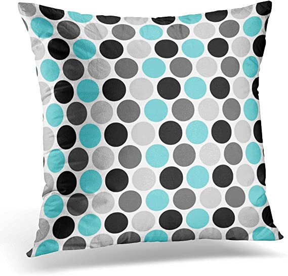 Purple Triangles Throw Pillow Stormy Skies Geometric by electrogiraffe Teal Abstract  18x18 Square Throw Pillow by Spoonflower