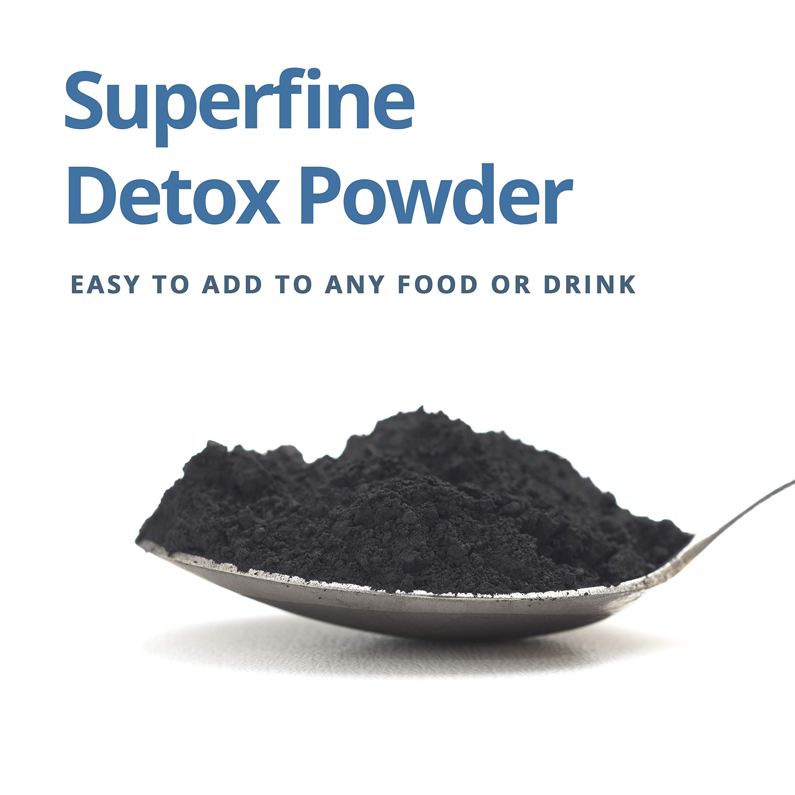 DETOX 1600 USP - Super Fine Coconut Activated Charcoal Powder - 12 oz by Charcoal House (Image #4)