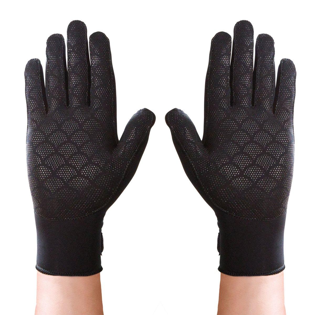 Thermoskin Full Finger Arthritis Gloves, Black, Large