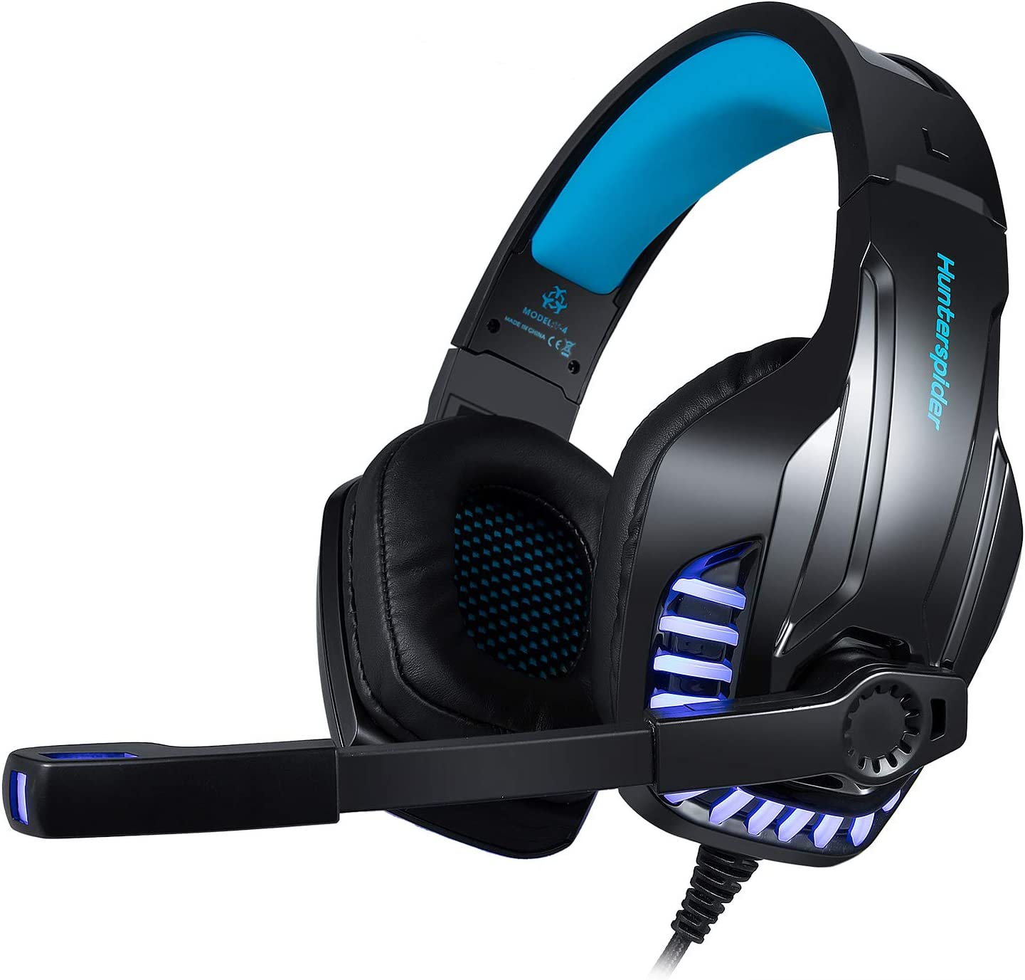 Professional Gaming Headset for FPS and Game Lovers, Noise Cancelling Headphones with Mic, Led Light, Bass Surround, Soft Memory Earmuffs,works with PS4, PC, Xbox One Controller AMiLove