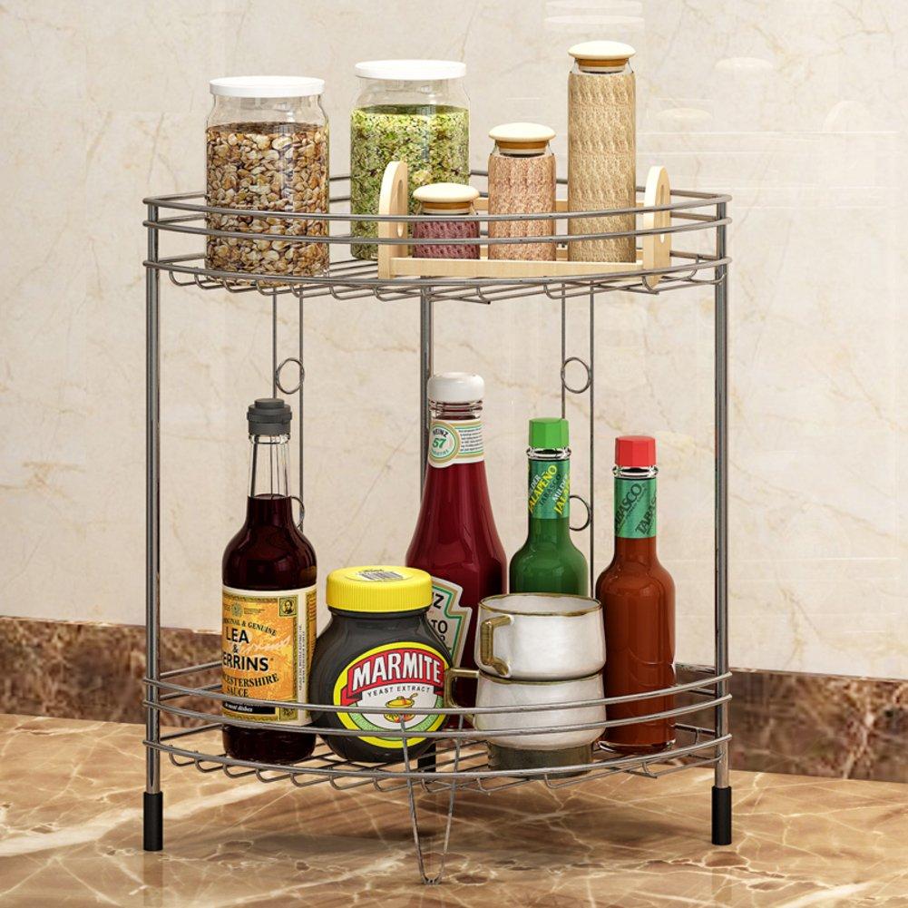 Stainless steel kitchen shelf/Bathroom Bathroom corner rack/bedroom ground floor/storage shelf/shelf /Storage shelf -A 50%OFF