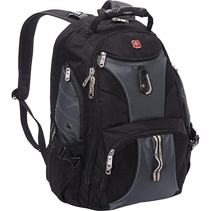 SwissGear 1900 Scansmart TSA Laptop Backpack - Black/Grey