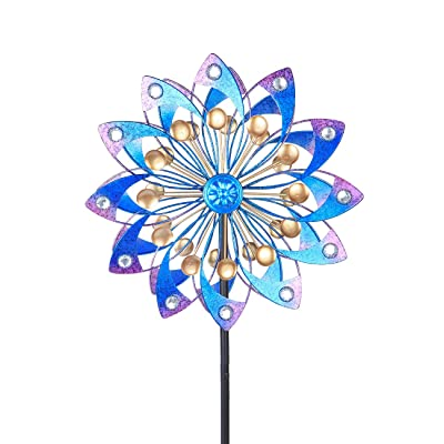 MUMTOP Wind Spinner 360 Degrees Double Wind Sculpture is Suitable for Decorating Your Patio, Lawn & Garden : Garden & Outdoor