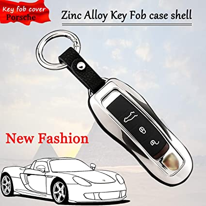 Amazon.com: Zinc Alloy Metal Key fob Case Cover For Porsche 718 911 Macan Cayenne Panamera Silver: Automotive