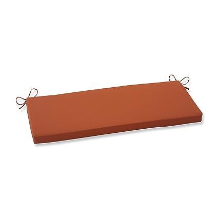 Amazon.com: Pillow Perfect Indoor/Outdoor Cinnabar Bench Cushion ...