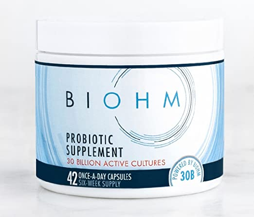 BIOHM Probiotics: 30Billion CFU. HSA Eligible. Vegan Non GMO No Gluten. Tackle Candida. Survives Stomach Acid. No Refrigeration Required.