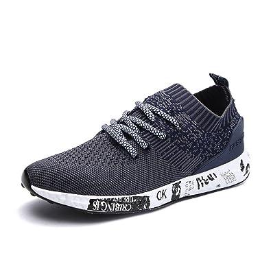 Turnschuhe, Gracosy Herren Laufschuhe Sneaker Freizeitschuhe Sport Fitness Outdoor Schuhe Grau 41