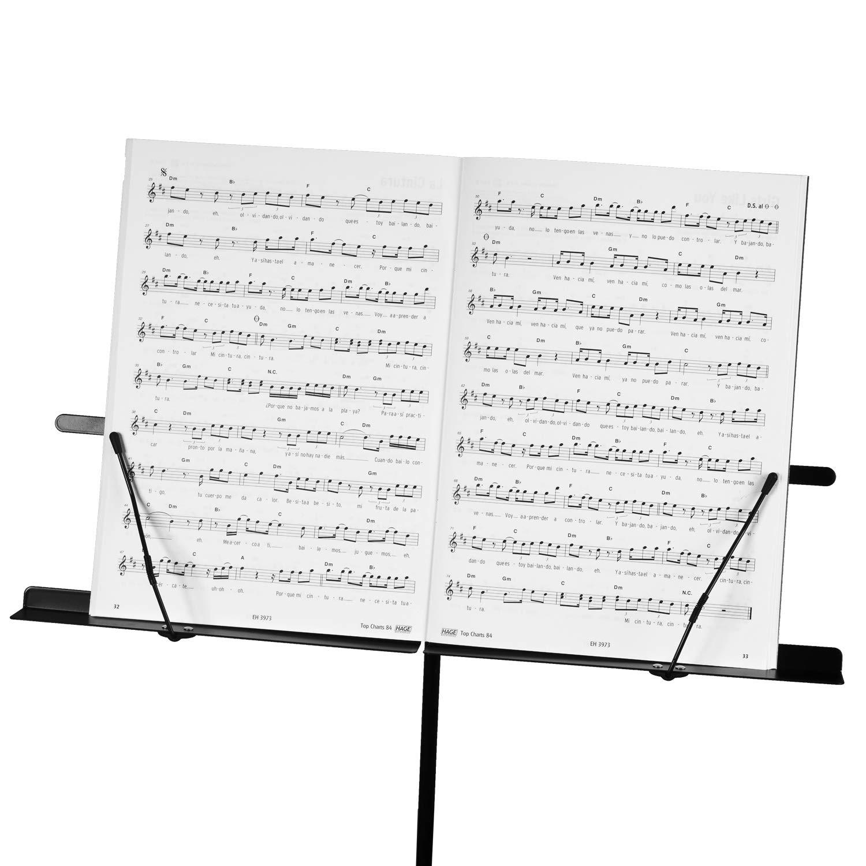 CASCHA Pupitre avec sac de transport r/églable en hauteur support pour partitions et livres enfants et adultes pour musiciens pliable
