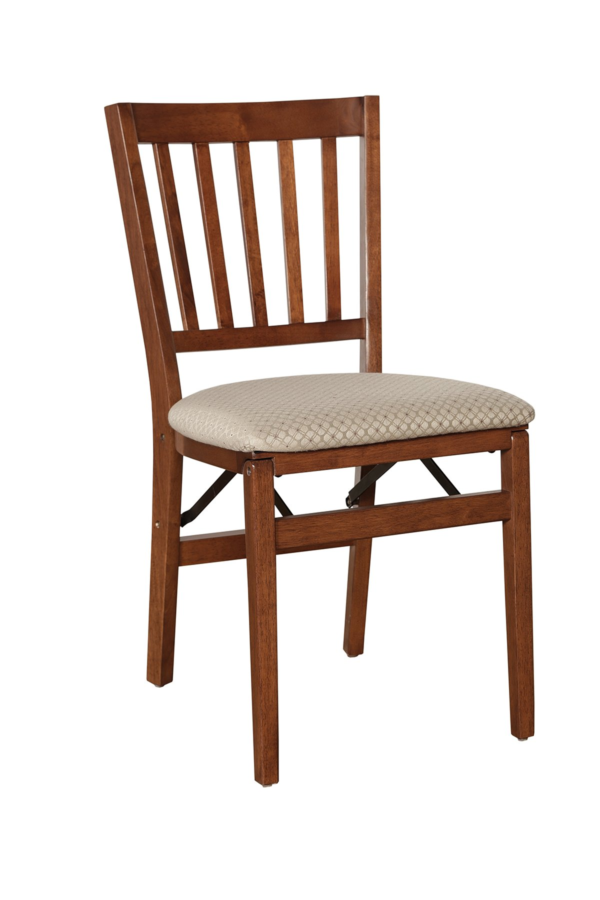 Stakmore School House Folding Chair Finish, Set of 2, Cherry by MECO (Image #1)