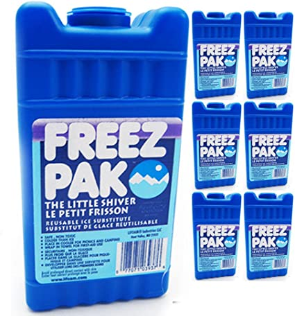 4 Reusable Ice Pack Cold Gel Compress Non Toxic Freeze Therapy Pain Food Camping