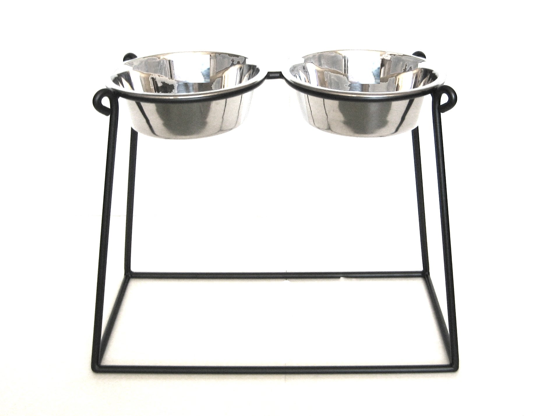 Pyramid Double Bowl Elevated Diner - 18'' - Raised Feeder