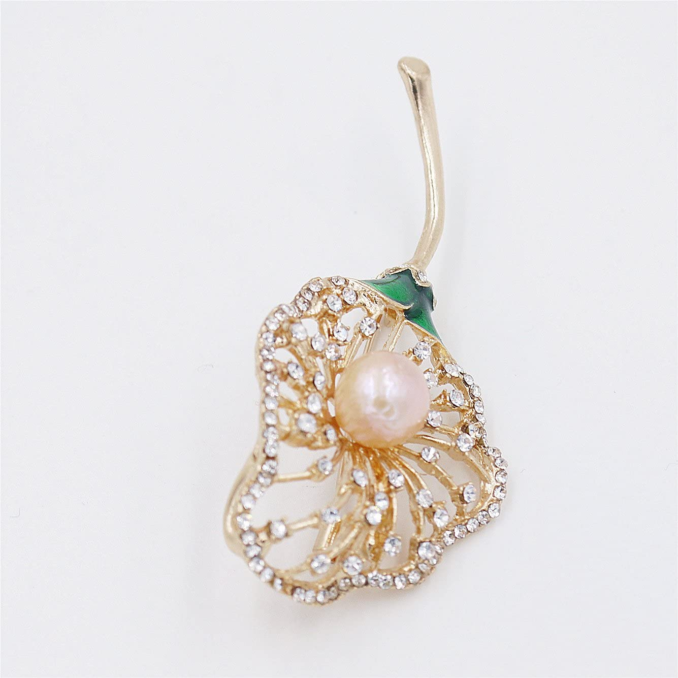 Lee Lee 【LeeLee】 C402Z-Baroque Pearl Dandelion Gold Plated Brooch Mothers Day Birthday Gift Jewelry