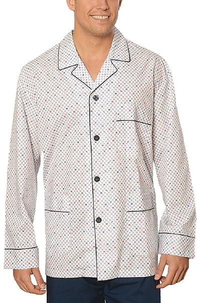Pijama de Caballero Largo clásico Estampado/Ropa de Dormir para Hombre - Tela Popelín,