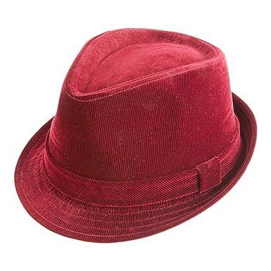 99bbbca848860 MONTIQUE Fedora Men s Corduroy Hat at Amazon Men s Clothing store