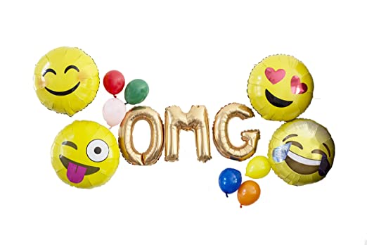Amazon.com: OMG! Emoji Party Globo Pack – 13 piezas Cool ...