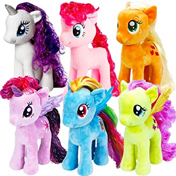 43ea39f2ca3 Ty My Little Pony Beanie Babies Collection -- Set of 6 Plush Dolls (Rarity