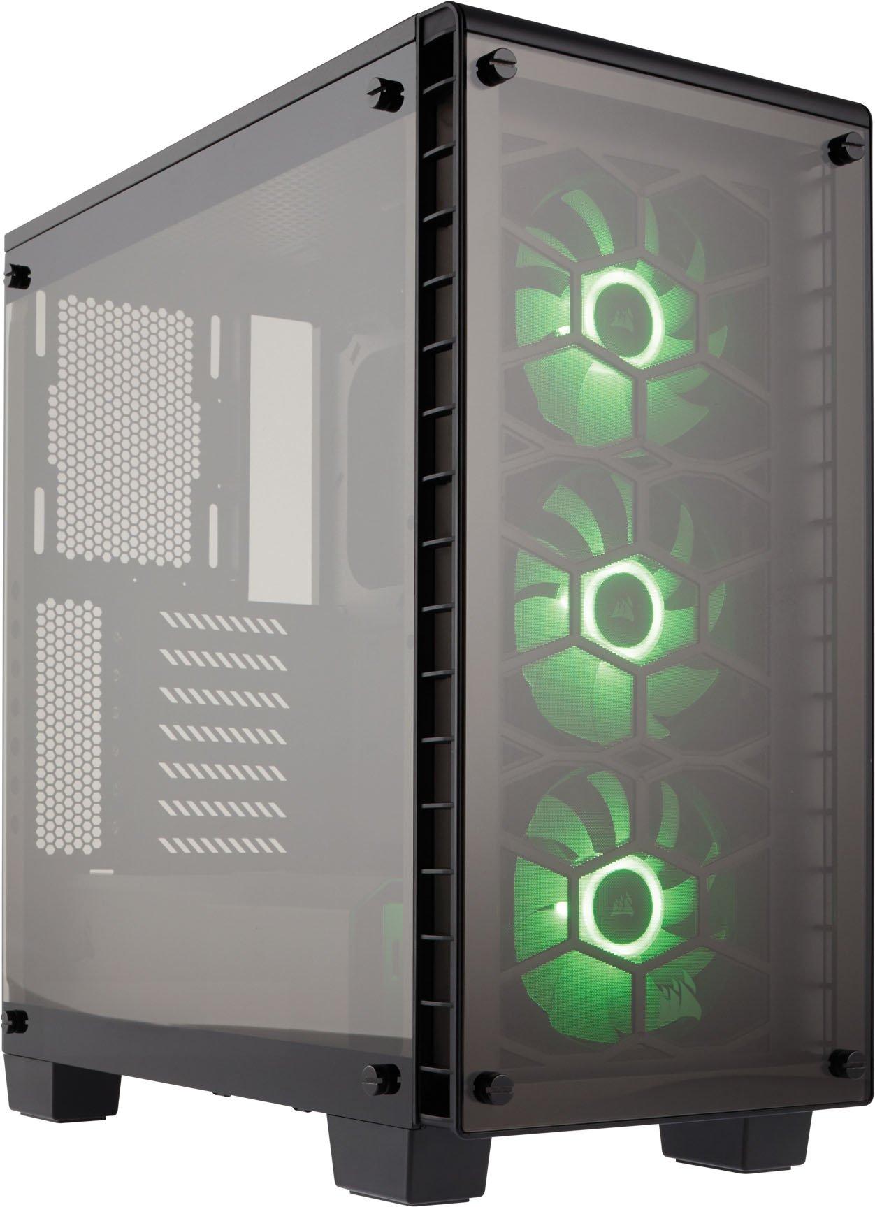 Corsair CC-9011101-WW Crystal Series 460X RGB, Tempered Glass, Compact ATX Mid by Corsair