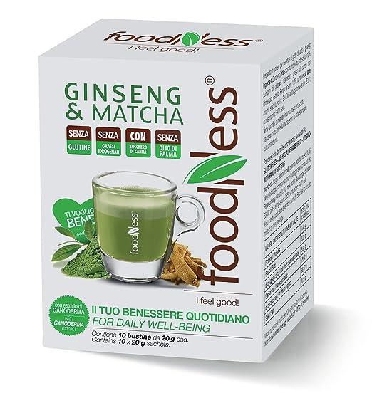 8 opinioni per Foodness Preparato Monodose per Caffè al Ginseng & Matcha- 5 confezioni da 10