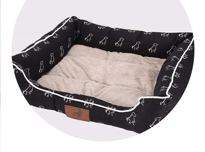 Black Standing Dog 55x45x16cm Black Standing Dog 55x45x16cm [pursuit-of-self-CA] dog bed for cat mat House pet Dog beds,Black Standing Dog,55x45x16cm