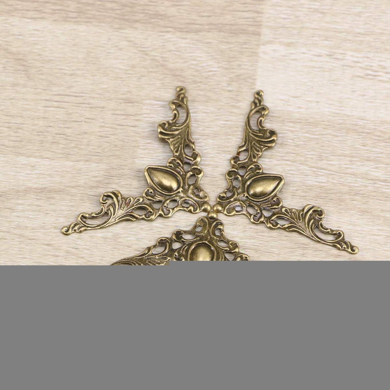 24St Sepikey Buch Ecken Buch Sammelalbum Ecken Vintage Metall Bronze dekorative Schutzh/üllen