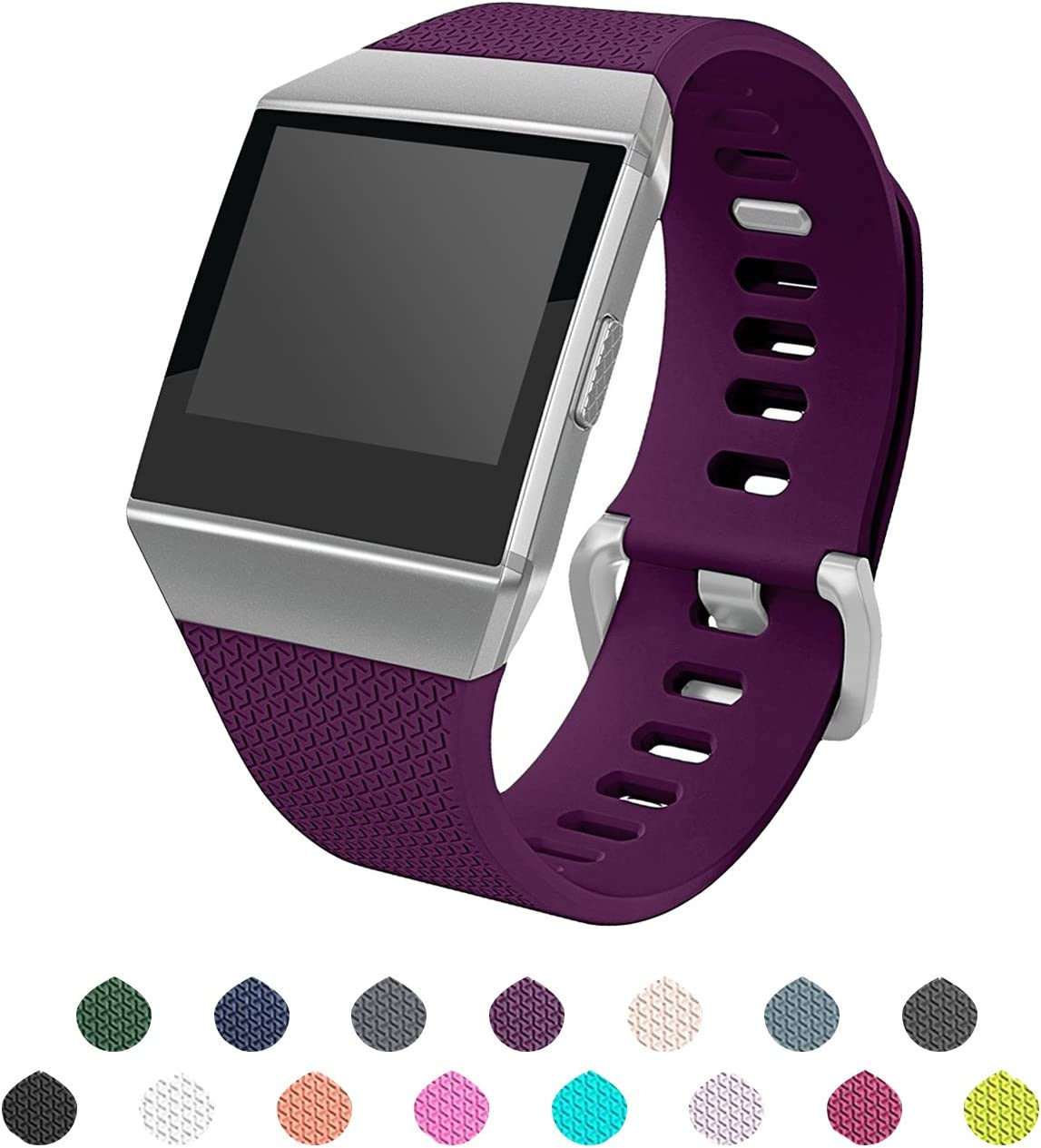 ULT-unite Fitbit Ionic Bands, 15 Colors Replacement Classic Sport Wristbands for Fitbit Ionic Smart Watch.