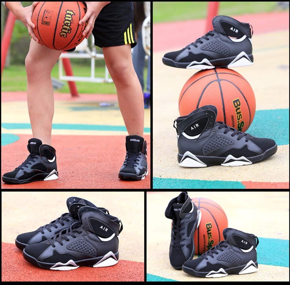 SZF228 Herren Basketball-Schuhe Laufen Bergsteigen Lace-Up Lace-Up Lace-Up LäSsige Sportmode Walking Basketball-Schuhe Turnschuhe (Weiß Schwarz, Schwarz Rot) B07PF3F2RF Basketballschuhe Hohe Qualität 0465d5