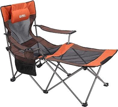UMI. by Amazon - Silla de Camping Plegable con Bolsa portátil Carga hasta 300 lbs, Ideal para acambaca/Senderismo/Viaje/Caza/Pesca