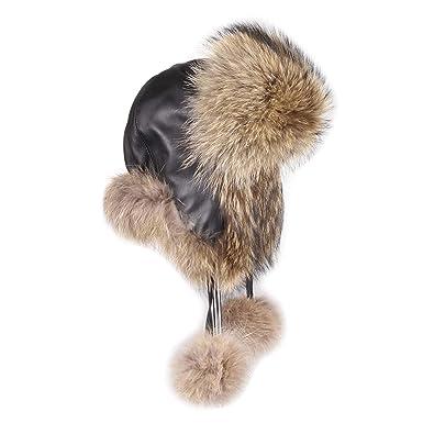 Precio reducido costo moderado encontrar mano de obra Sombrero de Mujer de mapache-Gorro de zorro piel Gorro de ...