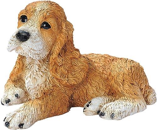 Design Toscano Brown Cocker Spaniel Puppy Dog Statue