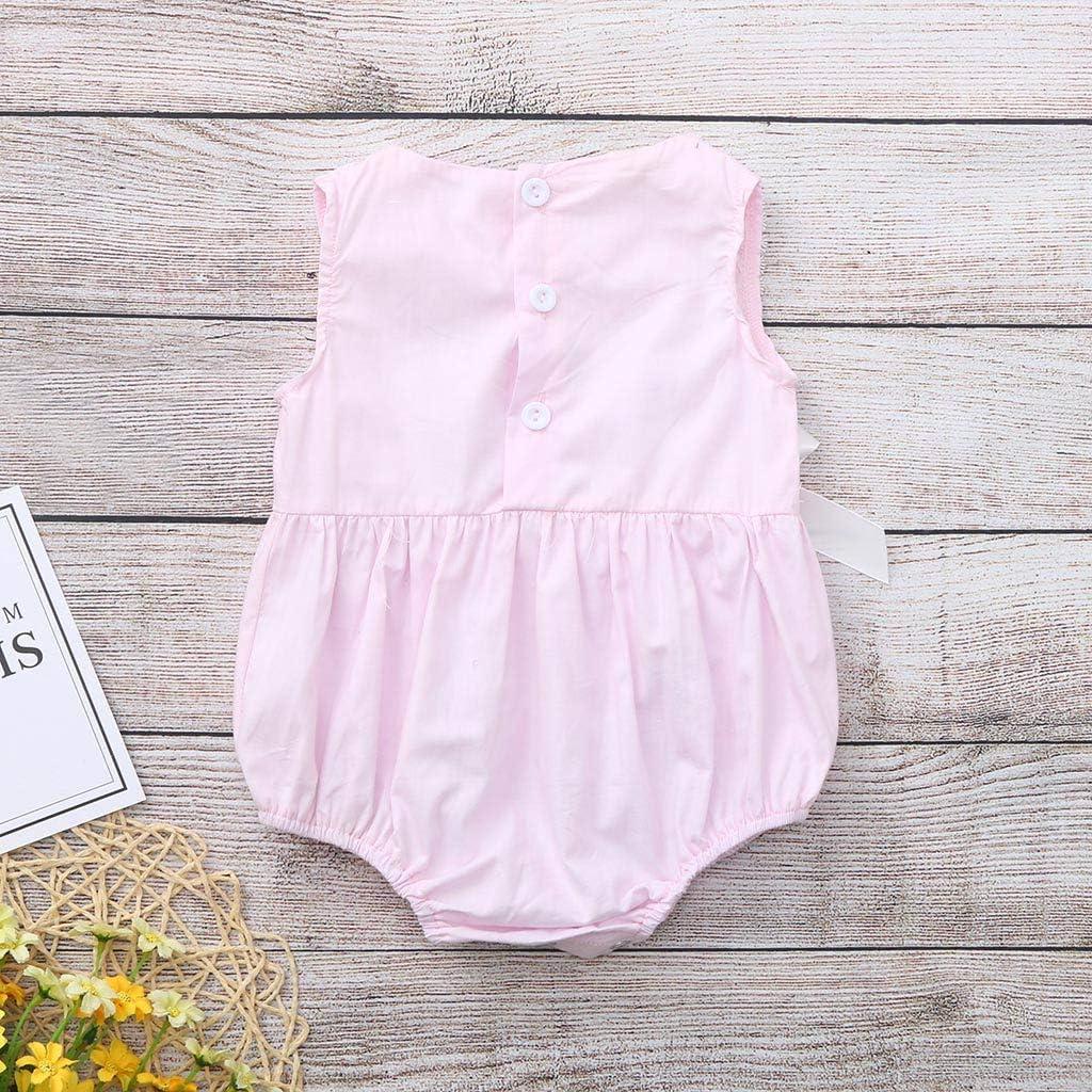 MRULIC M/ädchen Strampler Neugeborenes Baby Outfits Lace Bow /Ärmellos Sommer Floral Bodysuit Sunsuit Overall Niedlichen Sommer Kost/üm Sets