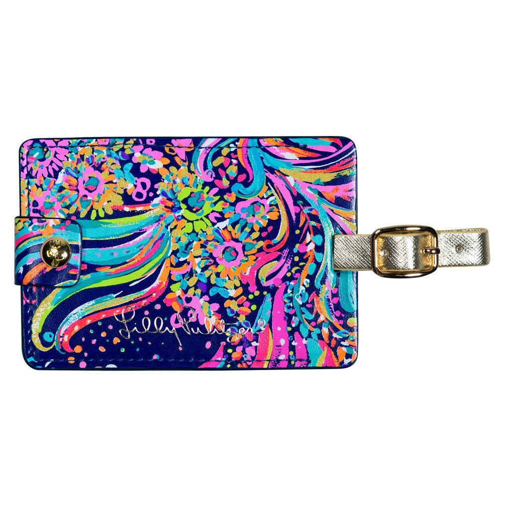Lilly Pulitzer Girls Luggage Tag, Beach Loot, One Size