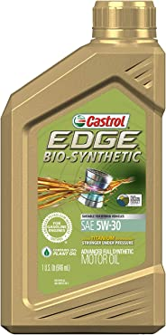 Castrol 06555 EDGE Bio-Synthetic 5W-30 Advanced Full Synthetic Motor Oil, 1 quart, 6 Pack