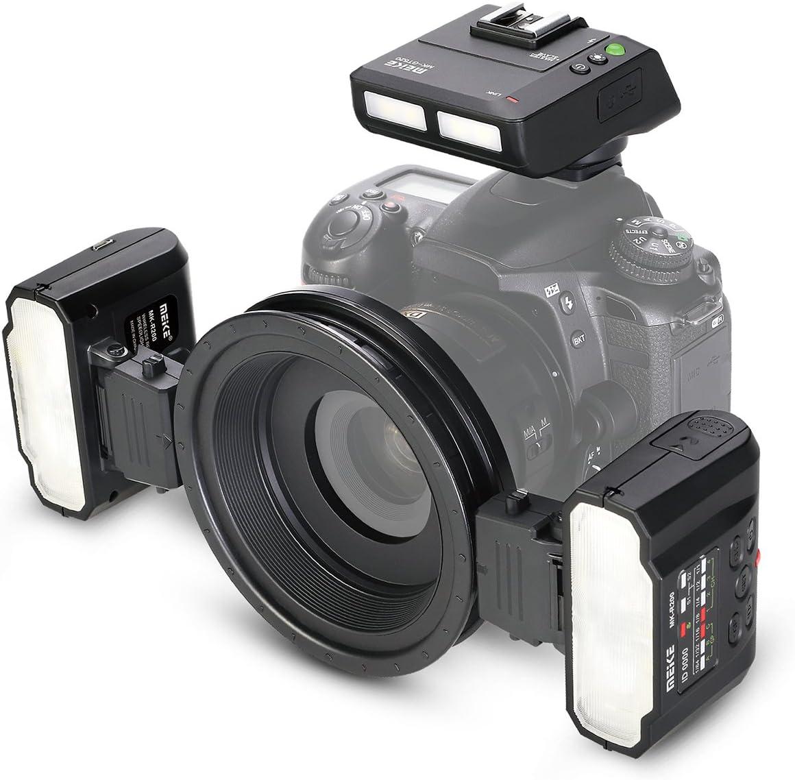 Amazon.com : Meike MK-MT24 2.4G Wireless Close-Up Speedlight Macro Twin  Lite Flash for Nikon F-Mount Z-Mount Digital<help data-id='78'><a href='/Dic/78/SLR' target='_blank'><strong>SLR</strong></a></help>Cameras D1X D2 D2H D2X D3  D3X D200 D300 D300S D700 Z6 Z7, etc :