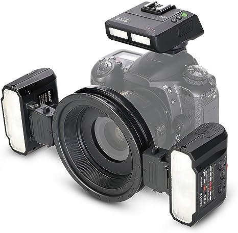 Meike MK-MT24 Macro Twin Lite Flash para Nikon Cámaras réflex ...