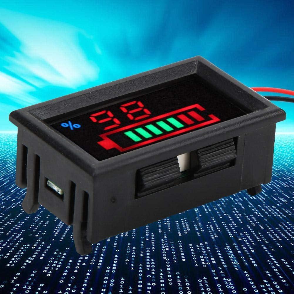 Lead acid 12V LED Digital Monitor de Capacidad de Bater/ía Voltaje y Electricidad Medidor dual Medidor Pantalla de Potencia Indicador de Capacidad de la Bater/ía YB27VE