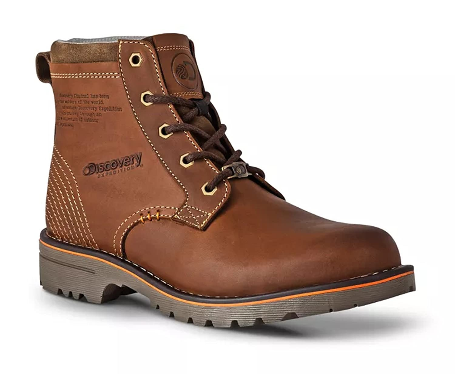 14c6ed1e142 Discovery Expedition Men s Leather Lace-Up Cushioned Casual Outdoors Boot  best