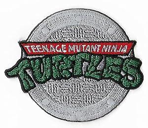 """J&C TMNT Teenage Mutant Ninja Turtles 3"""" Logo Embroidered Sew/Iron-on Patch"""