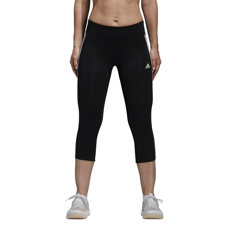 Black White adidas Women's Designed 2 Move Climalite 3Stripes 3 4 Tights