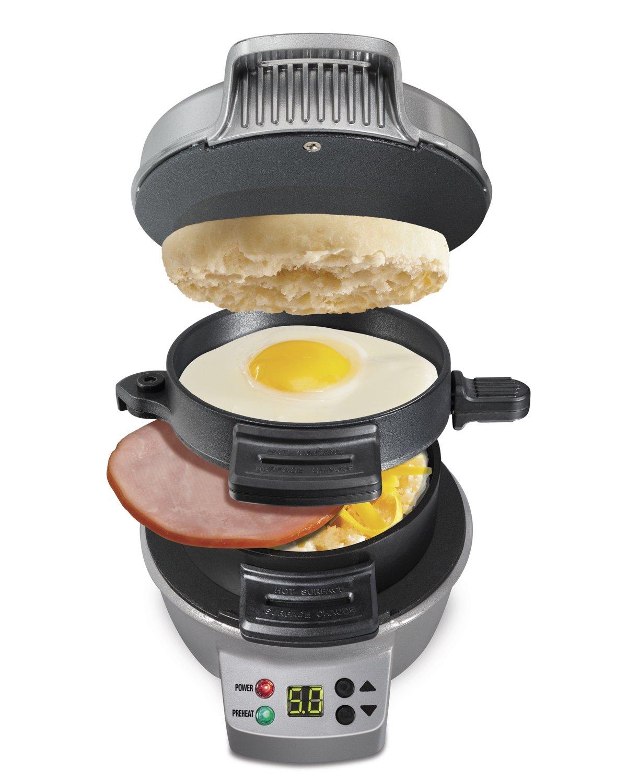 Hamilton Beach 25478 Breakfast Sandwich Maker with Timer, Silver
