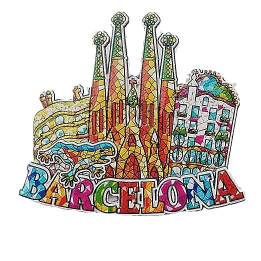 MUYU Magnet Imán para Nevera, diseño de Mosaico de Barcelona ...