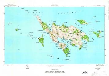 Amazon.com: Puerto Rico Maps - 1948 Culebra and Adjacent ...
