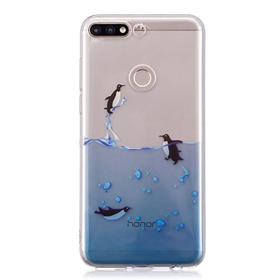 Amazon.com: Case for Huawei Honor 7C ,ZXLZKQ Dolphin Ocean ...