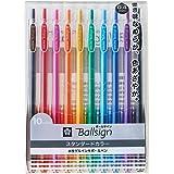 Sakura Knock Gel Ink Ballpoint Pen, Ball Sign Knock 04, 10 Color Assorted (GBR154-10)