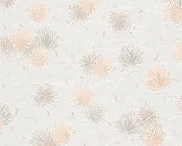 Schöner Wohnen Vliestapete Tapete Floral 10,05 M X 0,53 M Beige Braun Weiß