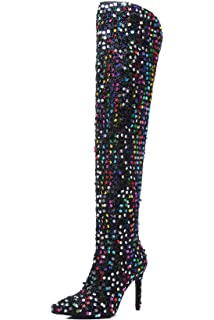 918f046cf04 Amazon.com | Weboo Dazzle Women Thigh High Over Knee Sequin Sparkle ...