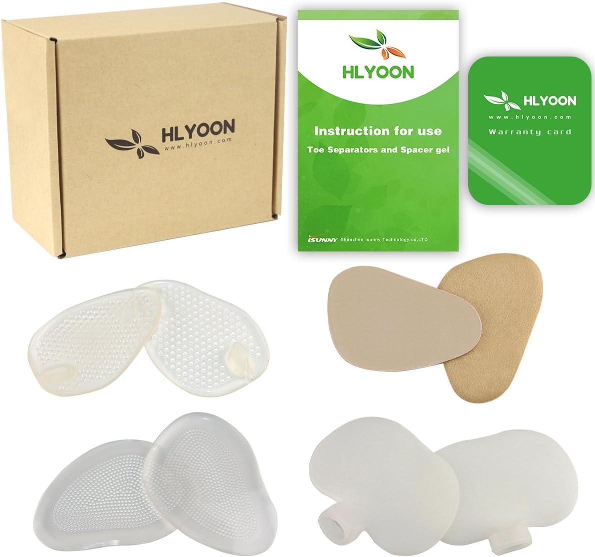 HLYOON® H06 Cuscinetti metatarsali in gel al silicone e cuscinetti per pianta del piede, cuscinetti per avampiede in pelle, cuscinetti per tacchi