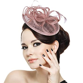 b997252f17f Image Unavailable. Image not available for. Color  Fascigirl Sinamay  Fascinator Pillbox Hat Hair Hoop Tea Party Derby Cocktail Hat