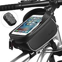 ROTTO Torba na ramę rowerową, torba na telefon komórkowy, wodoszczelna z ochroną przeciwdeszczową