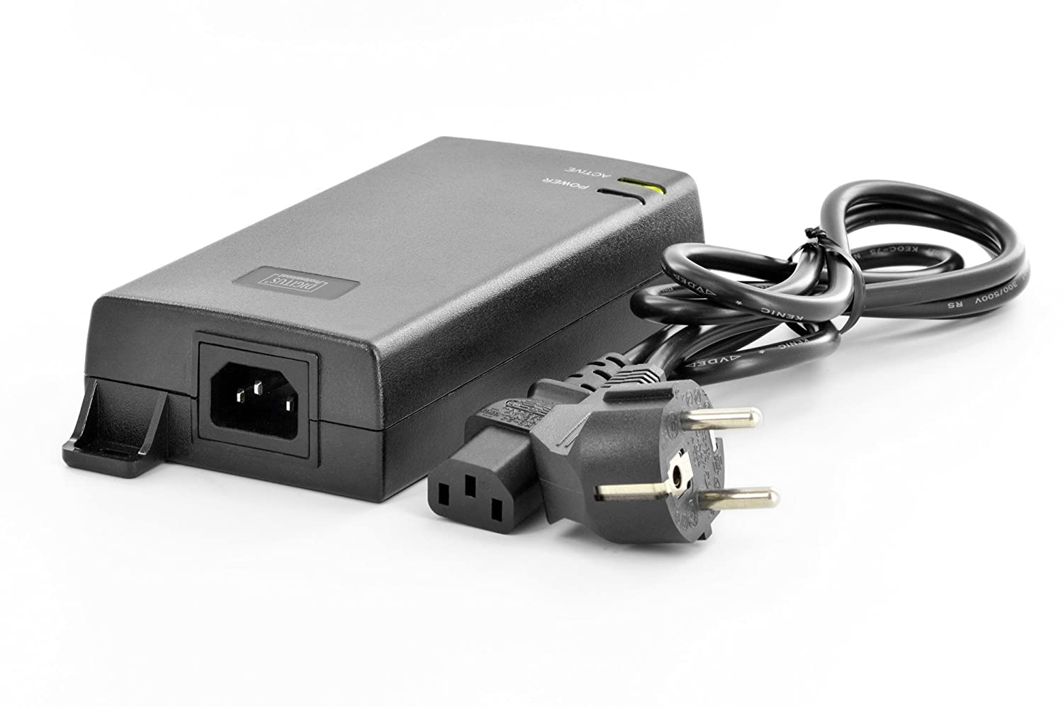 48V // 15.4W Output max DIGITUS Professional PoE Injector 802.3af 10//100 Mbps