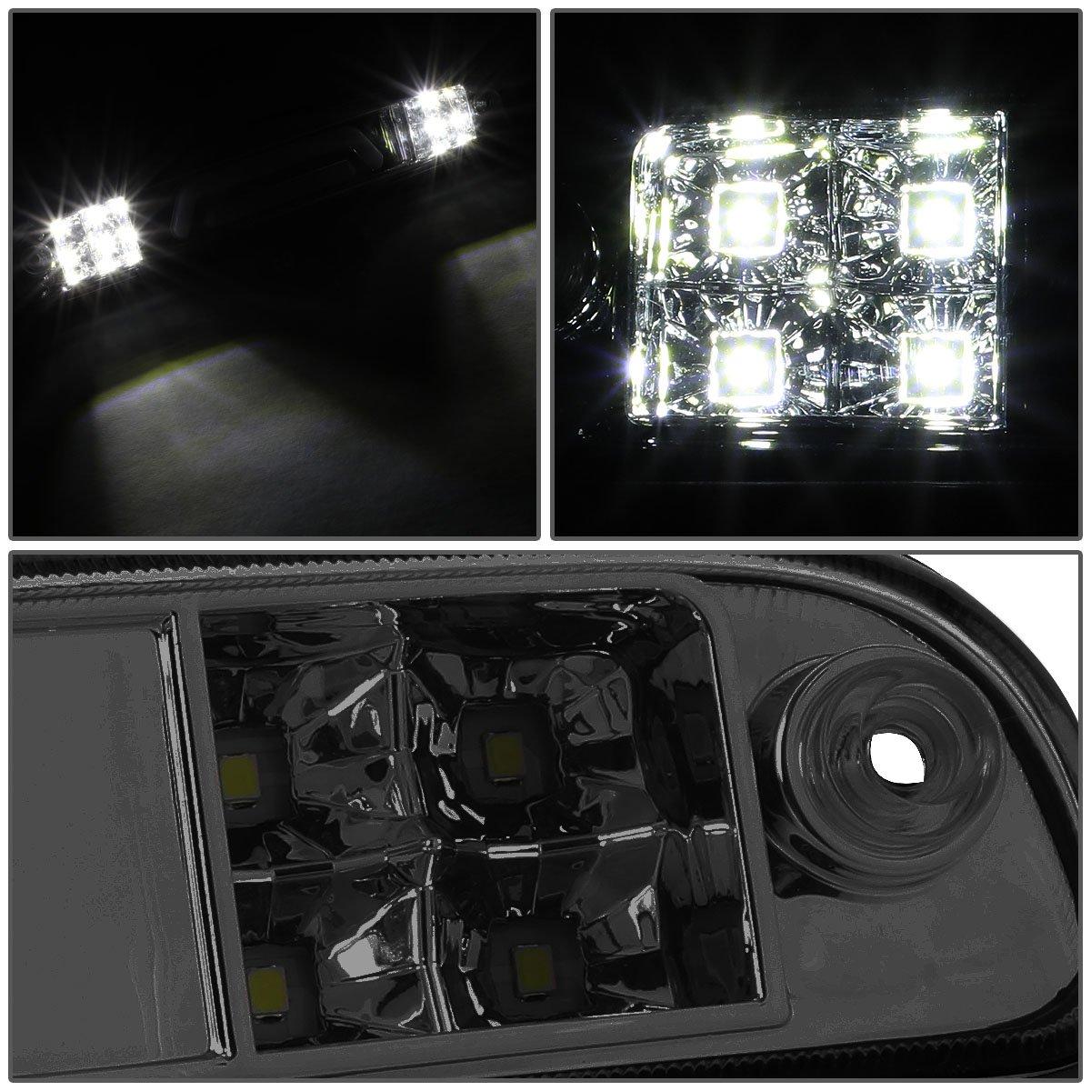 For B-Series//F-Series//Ranger 3D LED Light Bar Third Tail Brake Lamps 11th 12th Black Housing//Clear Lens